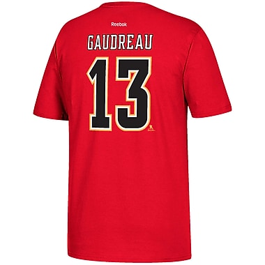 Reebok Calgary Flames Johnny Gaudreau Name & Number Tee, Small