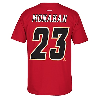 Reebok Calgary Flames Sean Monahan Name & Number Tee, Medium