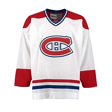 Reebok Montreal Canadiens Vintage Replica White Jersey, Medium