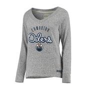 Reebok Edmonton Oilers Women's Comfy Crew, X Small