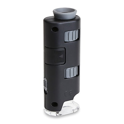 Carson Optical Micromax LED 60x-75x Pocket Microscope, Black (MM-200)
