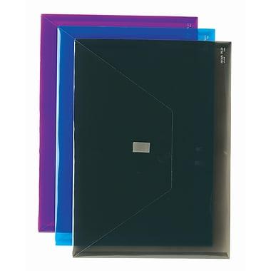 PolyEnvelope, Letter Size, Side Load, Blue, 8/Pack