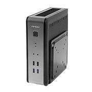 Antec ISK Series Mini-ITX Case with VESA Mount for Digital Signage, Silver/Black (ISK110 VESA-U3)