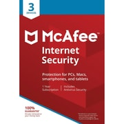 McAfee® Internet Security 2018 Antivirus Software, 3 Users, Windows/Mac/Android/iOS (MIS00ENR3RAA)