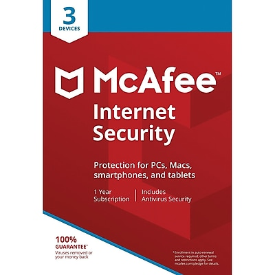 McAfee® Internet Security 2018 Antivirus Software, 10 Users, Windows/Mac/Android/iOS (MIS00ENRXRAA)