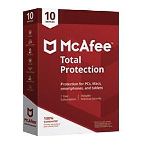 McAfee Total Protection 2018 Antivirus Software, 10 Users, Windows/Mac/Android/iOS (MTP00ENRXRAA) IM12AV758