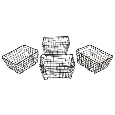 Cathay Importers Rustic Wire Basket, 4/Pack