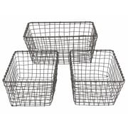 """Cathay Importers Rustic Wire Basket, 11.5""""W, 3/Pack (EC-10-2315)"""