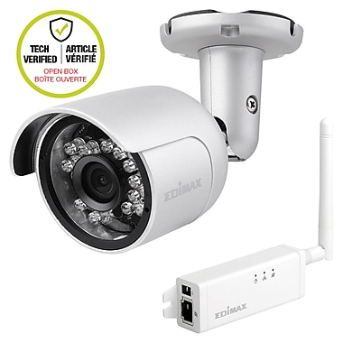 Edimax – Mini caméra réseau d'extérieur HD Wi-Fi, 11 x 7 x 4,5, IC-9110W (boîte ouverte)