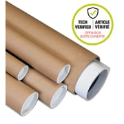 "Plug-Seal Mailing Tubes, 2"" x 36"", 0.07 mil., Kraft (Open Box)"