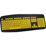 Ergoguys High Visibility Large Print Soft Touch Wired Keyboard (CST104LPY)