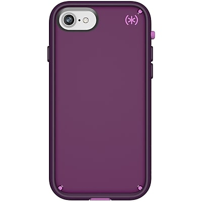 Speck Presidio ULTRA Carrying Case (Holster) for iPhone 8, iPhone 7, iPhone 6, iPhone 6S, Hibiscus Pink, Eggplant Purple