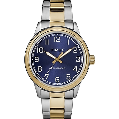 Timex New England Watch, 40mm, Two-Tone/Blue (TM-TW2R36600ZA)