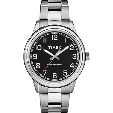 Timex New England Watch, 40mm, Silver-Tone/Black (TM-TW2R36700ZA)