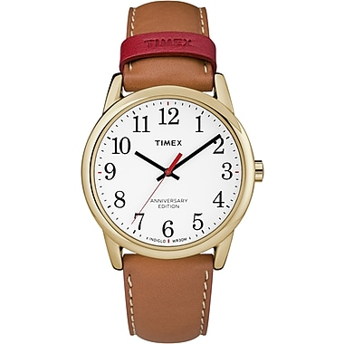 Timex Easy Reader 40th Anniversary Watch, 38mm, Gold/Brown (TM-TW2R40100ZA)