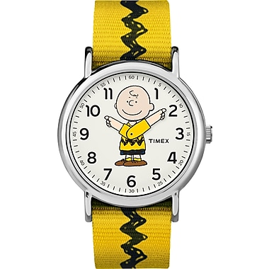Timex Peanuts Watch, Charlie Brown, 38mm, Yellow (TM-TW2R41100JT)