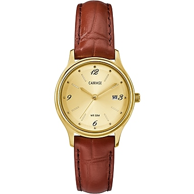 Carriage by Timex Watch, 28mm, Red/Gold (TM-CC3C780009J)