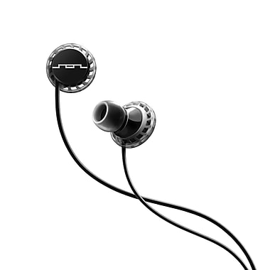 SOL REPUBLIC Relays Sport Three Button Earbuds, Black