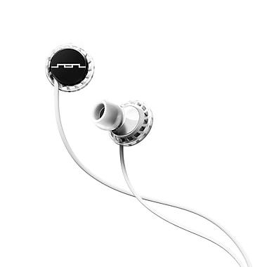 SOL REPUBLIC – Écouteurs intra-auriculaires Relays sport trois boutons, noir/blanc