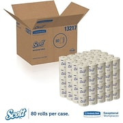 Scott 100% Recycled Fiber Bathroom Tissue, 2-Ply, 80/Pack (13217)