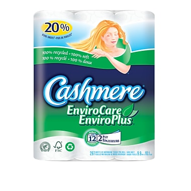 Cashmere EnviroCare Bathroom Tissue, Double Roll