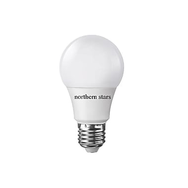 Northern Stars 80084 LED Light Bulb, A19 12W, Dimmable, Frosted, White, 10/Pack