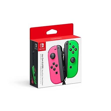 Nintendo – Manettes gauche et droite Joy-Con pour Nintendo Switch™, vert/rose fluo