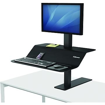 Fellowes Lotus VE Sit-Stand Single Workstation, Black (2750862)