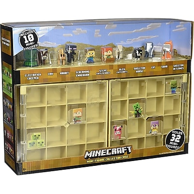 Mattel Minecraft Collector Case & 10 Mini Figures Action Figure IM12GH914