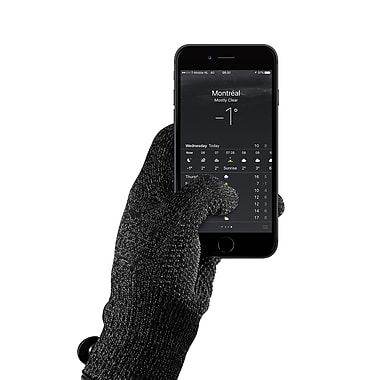 Mujjo Single Layered Touchscreen Gloves Black, Small