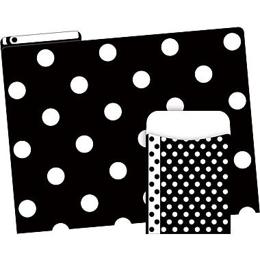 Barker Creek Black & White Dot Folder/Pocket Set (BC3603)