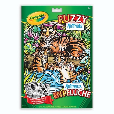 Crayola® - Pages à colorier Animaux en peluche, paq./12