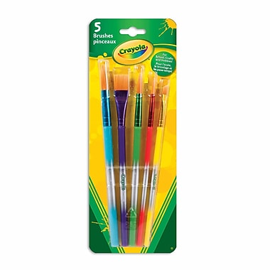 Crayola® - Pinceaux d'artiste, têtes variées, paq./5