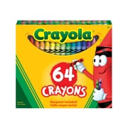 Crayola Crayons with Built-In Sharpener, Assorted Colours