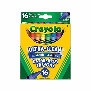 Crayola® Large Washable crayons, Assorted Colours, 16 per Box, 12/Pack