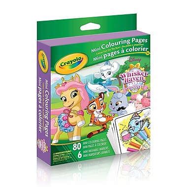 Crayola® Mini Colouring Pages, Princess, 12/Pack