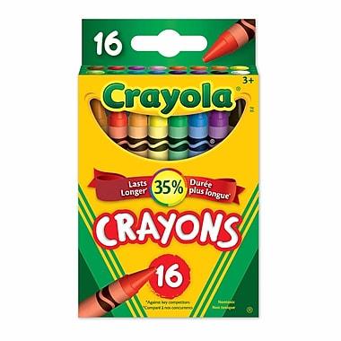 Crayola® - Crayons de cire, boîte à patte rentrante, 16 par boîte, paq./12