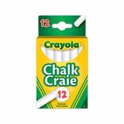 Crayola® -Craie, blanc, 12 par boîte, paq./12