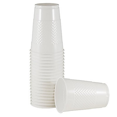 JAM Paper Plastic Cups, 16 oz., White, 20/Pack (22555216wh) 24295295