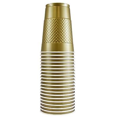 JAM Paper Plastic Cups, 16 oz., Gold, 20/Pack (22555216go) 24295107