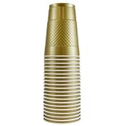 JAM Paper® Plastic Cups, 16 oz., Gold, 20/Pack (22555216go)