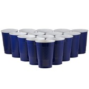 JAM Paper® Plastic Cups, 16 oz., Navy Blue, 20/Pack (22555216nv)