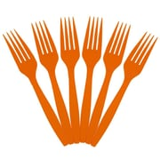 JAM Paper® Big Party Pack of Utensils, Plastic Forks, Orange, 100 Disposable Forks/Box (297F100or)