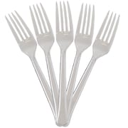 JAM Paper® Premium Utensils Party Pack, Plastic Forks, Clear, 48 Disposable Forks/Pack (297F48cl)