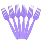 JAM Paper® Big Party Pack of Utensils, Plastic Forks, Purple, 100 Disposable Forks/Box (297F100pu)