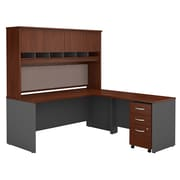 Bush Business Furniture Westfield 72W L Shaped Desk with Hutch and Mobile File Cabinet, Hansen Cherry (SRC0018HCSU)