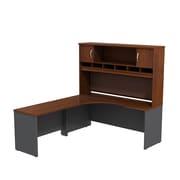 Bush Business Furniture Westfield Left Handed Corner L Shaped Desk with Hutch, Hansen Cherry (SRC002HCL)