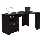 Bush Furniture Cabot Corner Desk, Espresso Oak (WC31815-03)