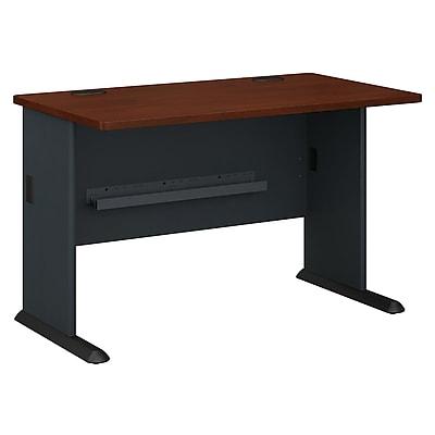 Bush Business Furniture Cubix 48W Desk, Hansen Cherry, Installed (WC90448AFA)