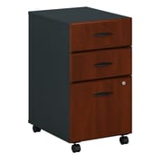Bush Business Furniture Cubix 3 Drawer Mobile File Cabinet, Hansen Cherry/Galaxy (WC94453PSU)
